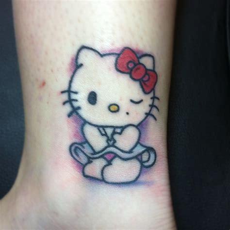 tattoo fail hello kitty naughty hello kitty tattoo on ankle