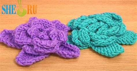knitted flower pattern youtube sheruknitting easy to knit rose flower tutorial