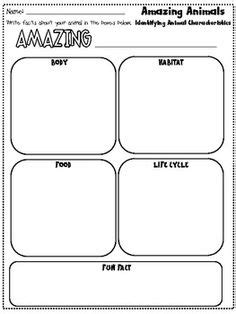 printable animal research template 4 best images of first grade animal report printable