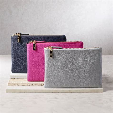 Great Gifts For Handbag by Personalised Leather Clutch Bag Or Cosmetic Purse By