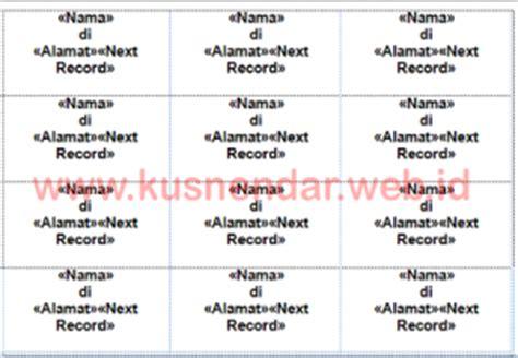 template alamat undangan memasukkan nama dan alamat di label undangan di word