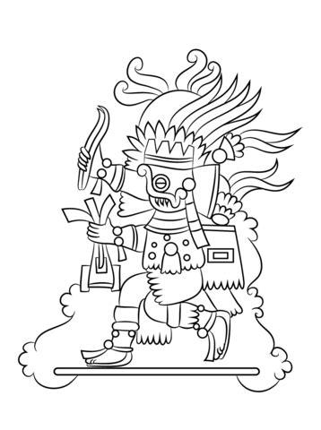 aztec coloring pages pdf dibujo de dios azteca tlaloc para colorear dibujos para