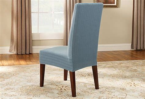 Blue Dining Room Chair Covers by Sure Fit Stretch Pinstripe Dining Room Chair Cover Blue Http Kitchenammo