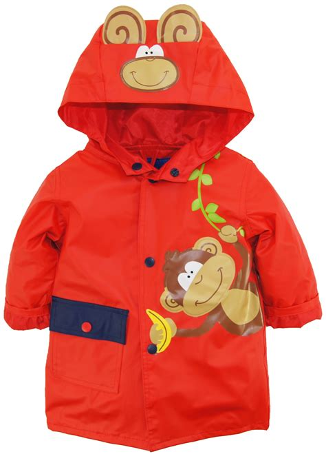 260517 a monkey s raincoat wippette baby boys rainwear vinyl cute monkey adventure