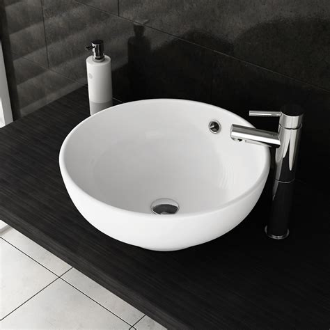 bathroom sinks that sit on top of counter cruze high rise mono basin mixer with round counter top