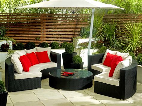 backyard tables outdoor furniture for a garden landscaping gardening ideas