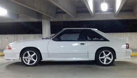 mustang gt 1989 oxford white 1989 ford mustang gt fastback