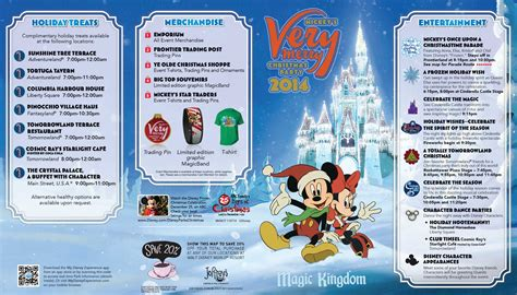 mickey s very merry christmas party 2014 guide map photo