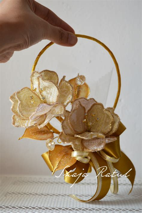 bunga telur design baru bunga songket loop exclusive hand made flowers