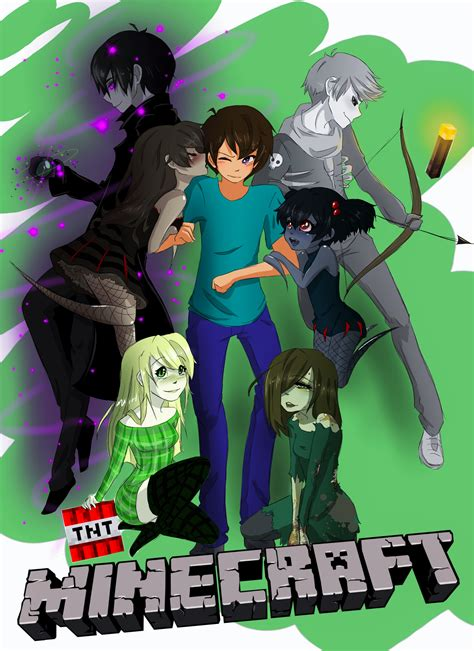 Imagenes Anime De Minecraft | if minecraft was an anime by cocodango on deviantart
