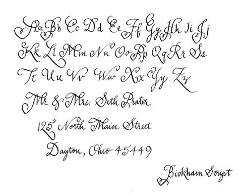 sle of writing calligraphy styles