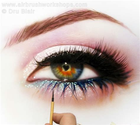 watercolor eyeshadow tutorial watercolor eye painting in progress airbrush paintings