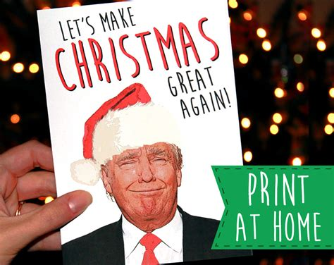 donald trump xmas cards print at home donald trump printable christmas card by