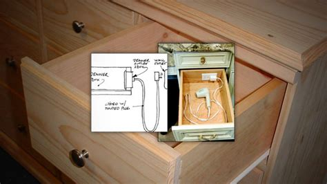 Bathroom Drawer Outlet Install An Outlet In A Drawer For Convenient Gadget