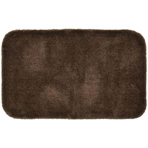 Luxury Bathroom Rugs Finest Luxury Chocolate 24 In X 40 In Washable Bathroom Accent Ruggarland Rug 203181390