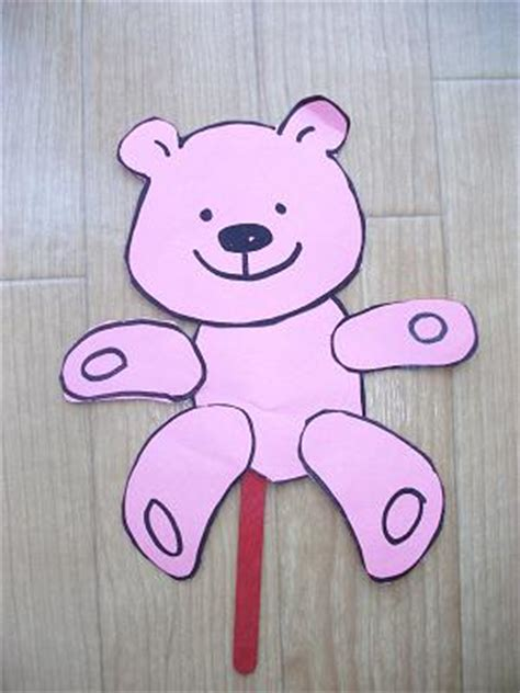 teddy crafts for preschool crafts for teddy puppet craft