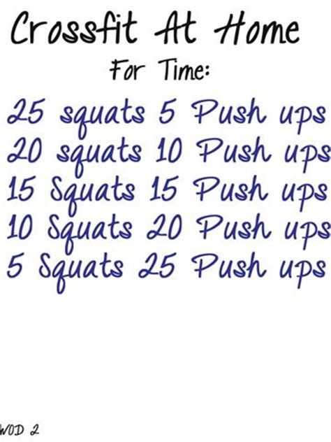 crossfit on the fly home workouts crossfit workouts at