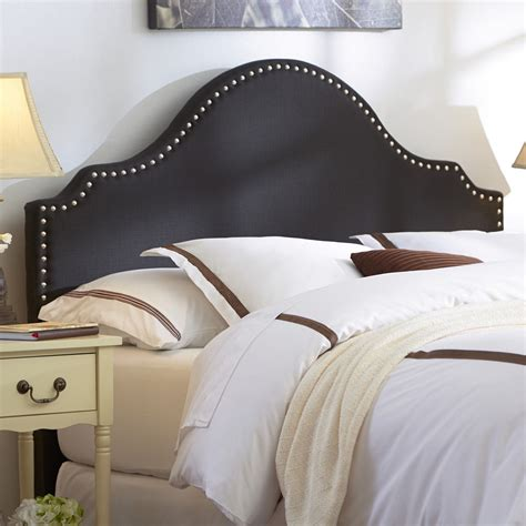 fabric headboard with nailhead trim diy upholstered headboard for nice bedroom ideas
