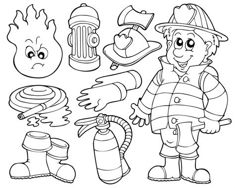 firefighter jacket coloring page kostenlose malvorlage berufe rund um die feuerwehr zum