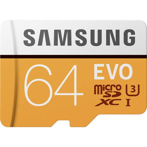 Samsung Evo 64gb 48mbs Microsdxc Card Uhs 1 Class 10 Sd Adapter samsung 64gb evo uhs i microsdxc memory card mb mp64ga am b h