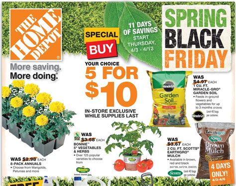 home depot black friday sale save on mulch