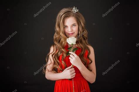 schoolgirl princess backgrounds girl teenager smile happiness black background long