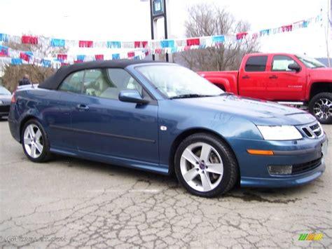 saab convertible blue 2007 fusion blue metallic saab 9 3 aero convertible
