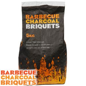 buy charcoal bbq briquets 5kg bag at home bargains