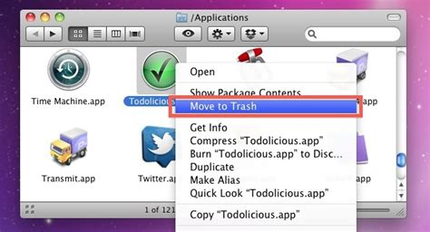 how to uninstall apps on mac uninstall programs osx lion