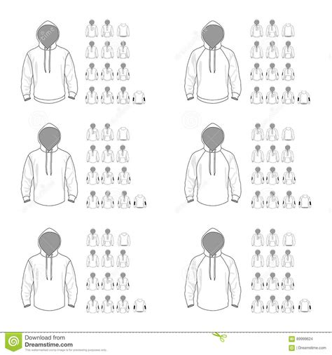 women s hooded sweatshirt with pocket template vector hooded sweatshirt template different vector models front