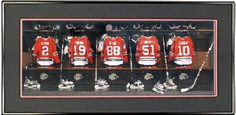 chicago blackhawks locker room blackhawks locker room jerseys chicago blackhawks framed print