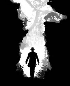 indiana jones silhouette art shows awesome untold