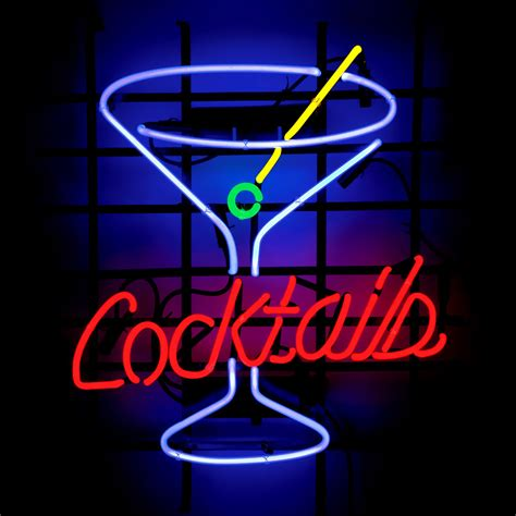 Neon Bar Lights by Me335 Cocktails Beer Bar Neon Light Sign 16 X 15 Free Shipping Worldwide