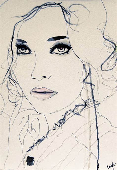 fashion illustration drawing faces leigh viner fashion illustrations trendland