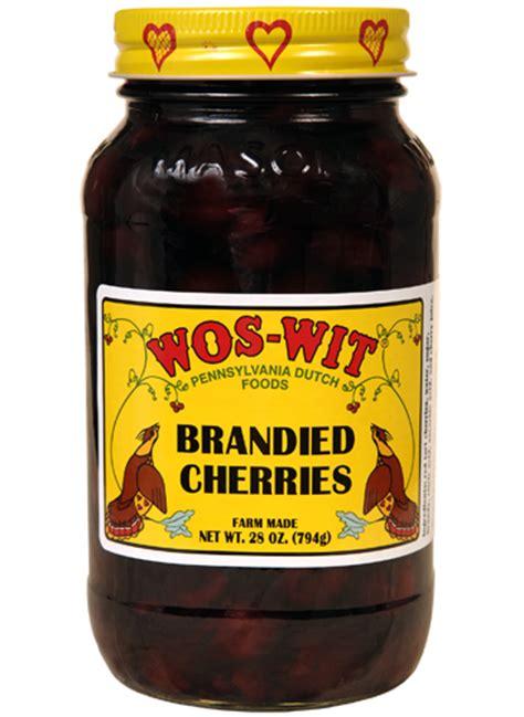 Giftbaskets 28 Oz Brandied Cherries Wos Wit Pennsylvania Dutch Foods