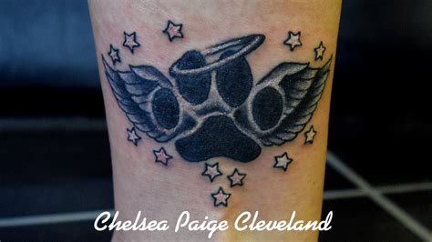 tattoo angel dog paw memorial by chelsea c on deviantart