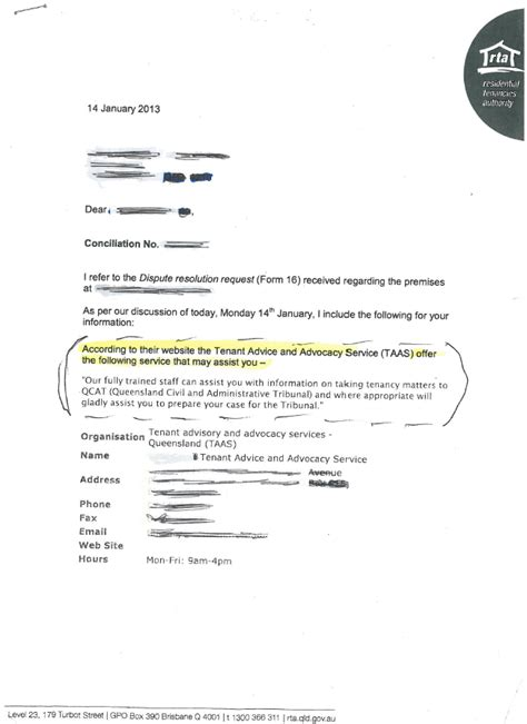 Lease Letter Nsw Bad Landlord Australia April 2013
