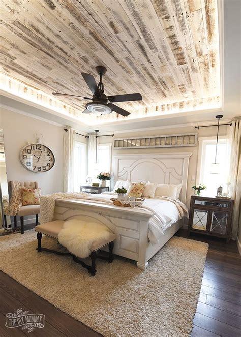 böhmisches schlafzimmer modern country farmhouse master bedroom design
