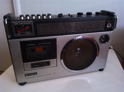 cassette players vintage radio cassette player sanyo m2580lu from 80 s