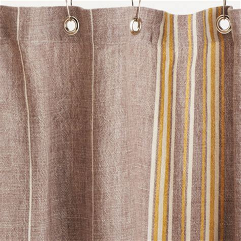 Shower Curtains Rustic Rustic Linen Shower Curtain Toast W Mustard Contemporary Shower Curtains By Thos Baker