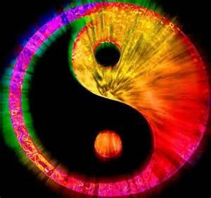 yin yang colors ying yang rainbow rainbows mandalas
