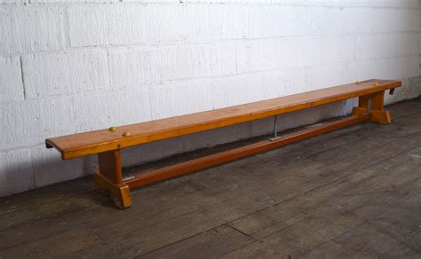 school gym bench vintage 1960s wooden school gym bench vintage mischief