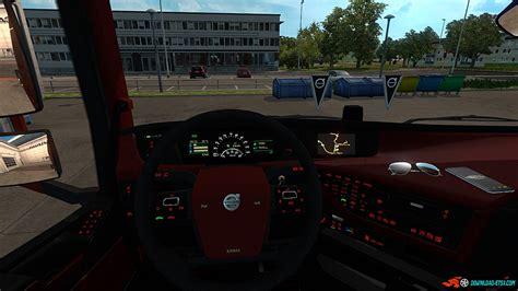 volvo 2012 black orange interior ets 2 mods volvo fh 16 2012 black red interior 187 download ets 2 mods