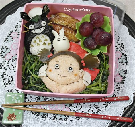 Totoro Satsuki Mei Pos karenwee s bento diary bento june27 my totoro