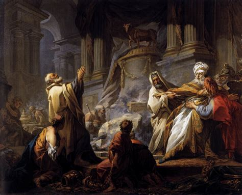 profane at the altar of the lord books jeroboam offering sacrifice for the idol by fragonard
