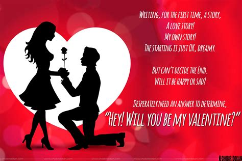 my valentines will you be my poems for him with images