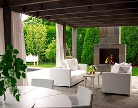 outdoor living room with fireplace modern outdoor living the patio experts