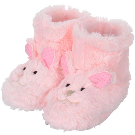 slippers for baby faux fur rabbit booties slippers with ears non