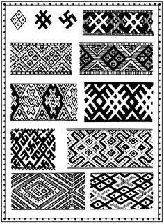 Tribal Pattern Origins | slavic tattoo latvian artist janissvars latvian tattoo