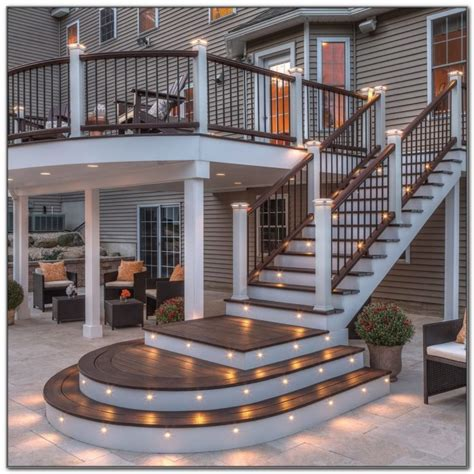 under deck lighting ideas deck rail lighting ideas decks home decorating ideas